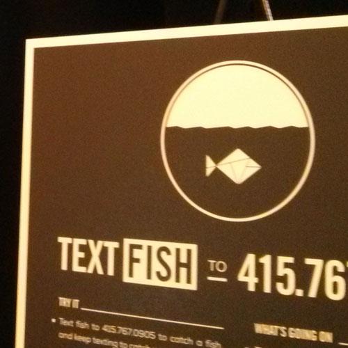 text fish display
