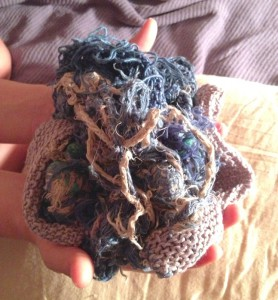 Not much remains of Blankie, Sophia Slote's childhood blanket. (Photo courtesy of Sophia Slote)